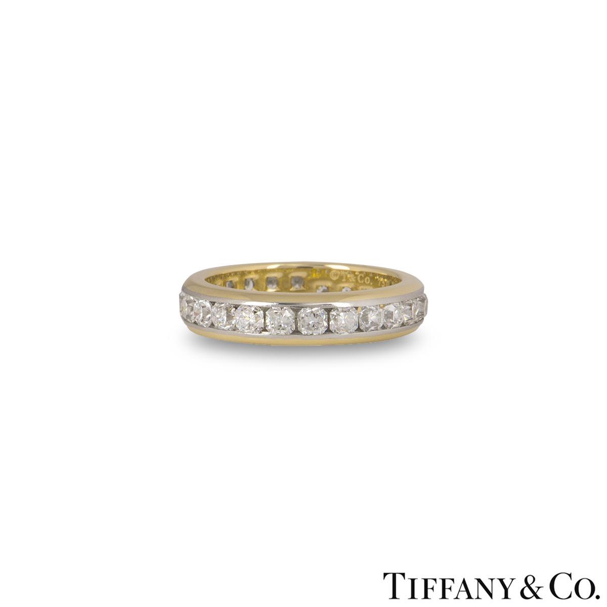Tiffany & Co. Bi-Metal Lucida Full Diamond Eternity Ring